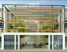 Front Yard Coffee Shop 3D model