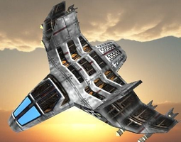 Space/Air TITANIUN FIGHTER Ship 3D Model