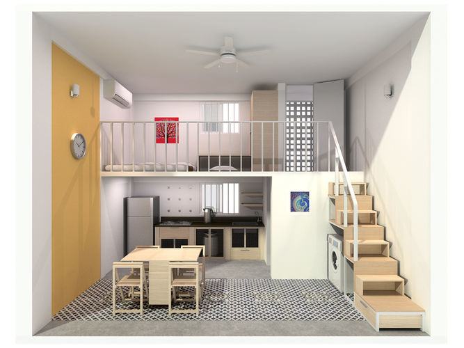 Single Compact Apartment Model