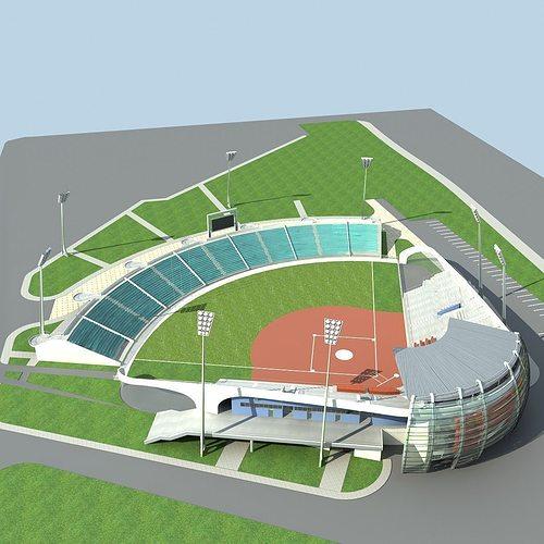 baseball stadium 01 3d model max obj mtl fbx 1
