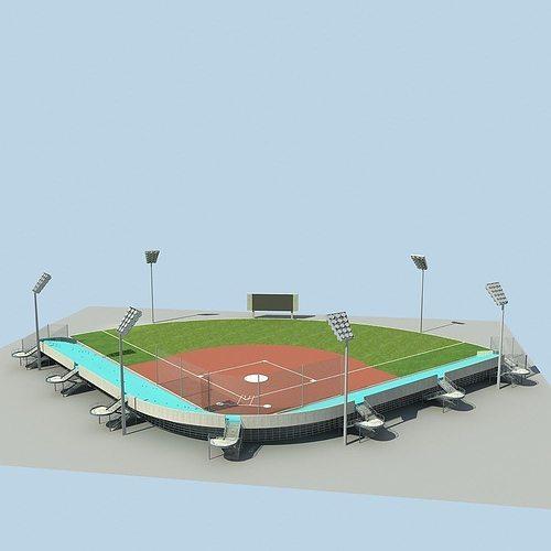 baseball stadium 02 3d model max obj mtl fbx 1