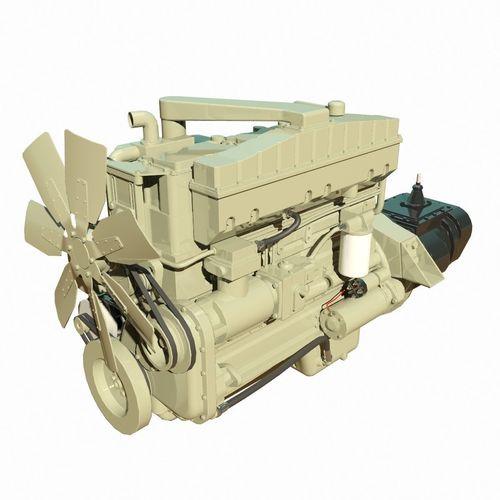 diesel engine 3d model max obj 3ds fbx mtl 1