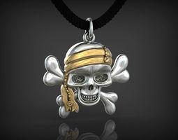 3D print model Pendant Skull of Pirate