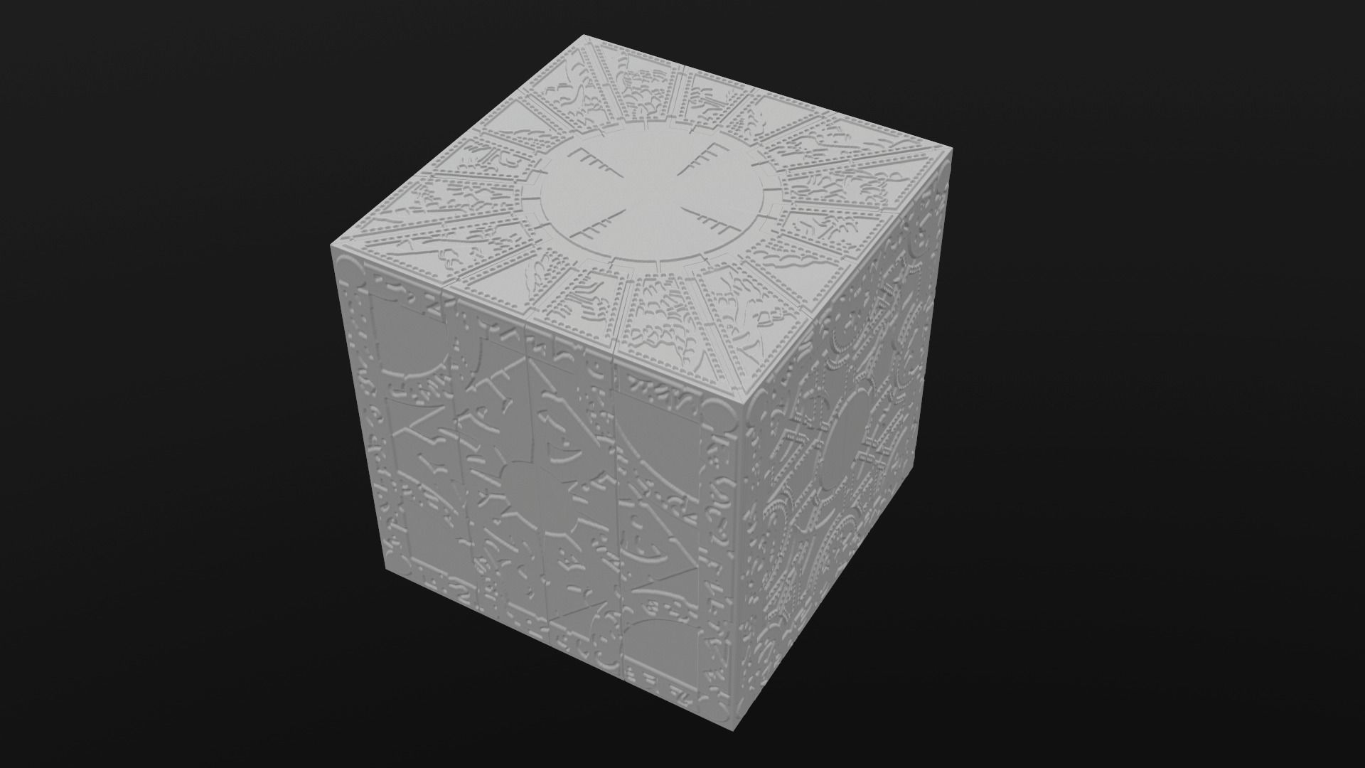 Printable Hellraiser puzzle box lament configuration