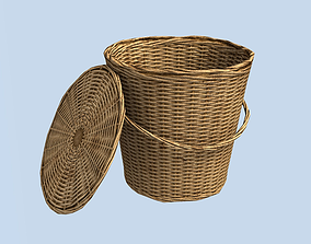 3D model Wicker Basket Low Poly