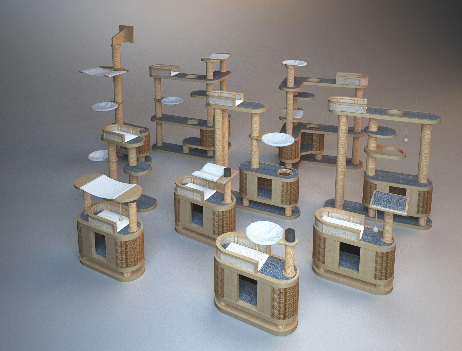 Wooden Cat Tree Construction