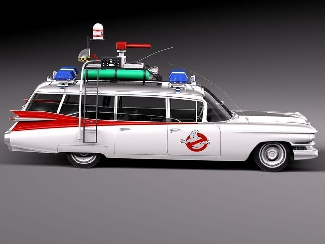 cadillac ecto 1 ghostbusters 1959 3d model max obj 3ds. Black Bedroom Furniture Sets. Home Design Ideas