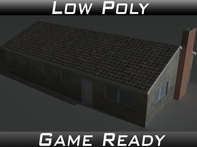house 11 3d model low-poly obj mtl 3ds fbx 1