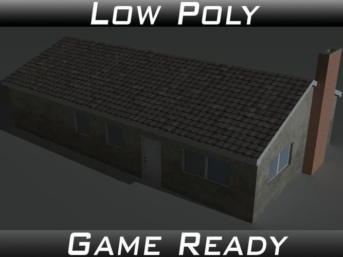 house 11 3d model obj mtl 3ds fbx 1