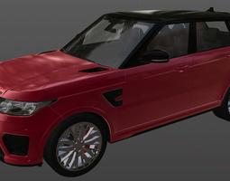 3D model Land Rover Range Rover Sport SVR 2015