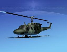Bell UH-1N Covert Military 3D Model