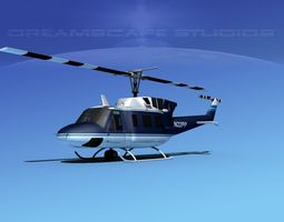 Bell UH-1N National Parks Service 3D Model