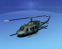 Bell UH-1N Air Force Rescue 3D Model