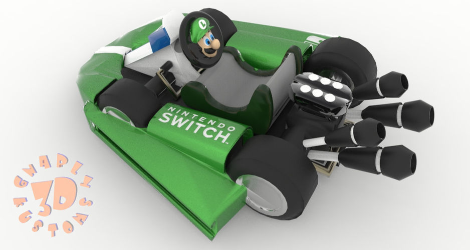 Luigi Kart Nintendo Switch Joy Con Controller