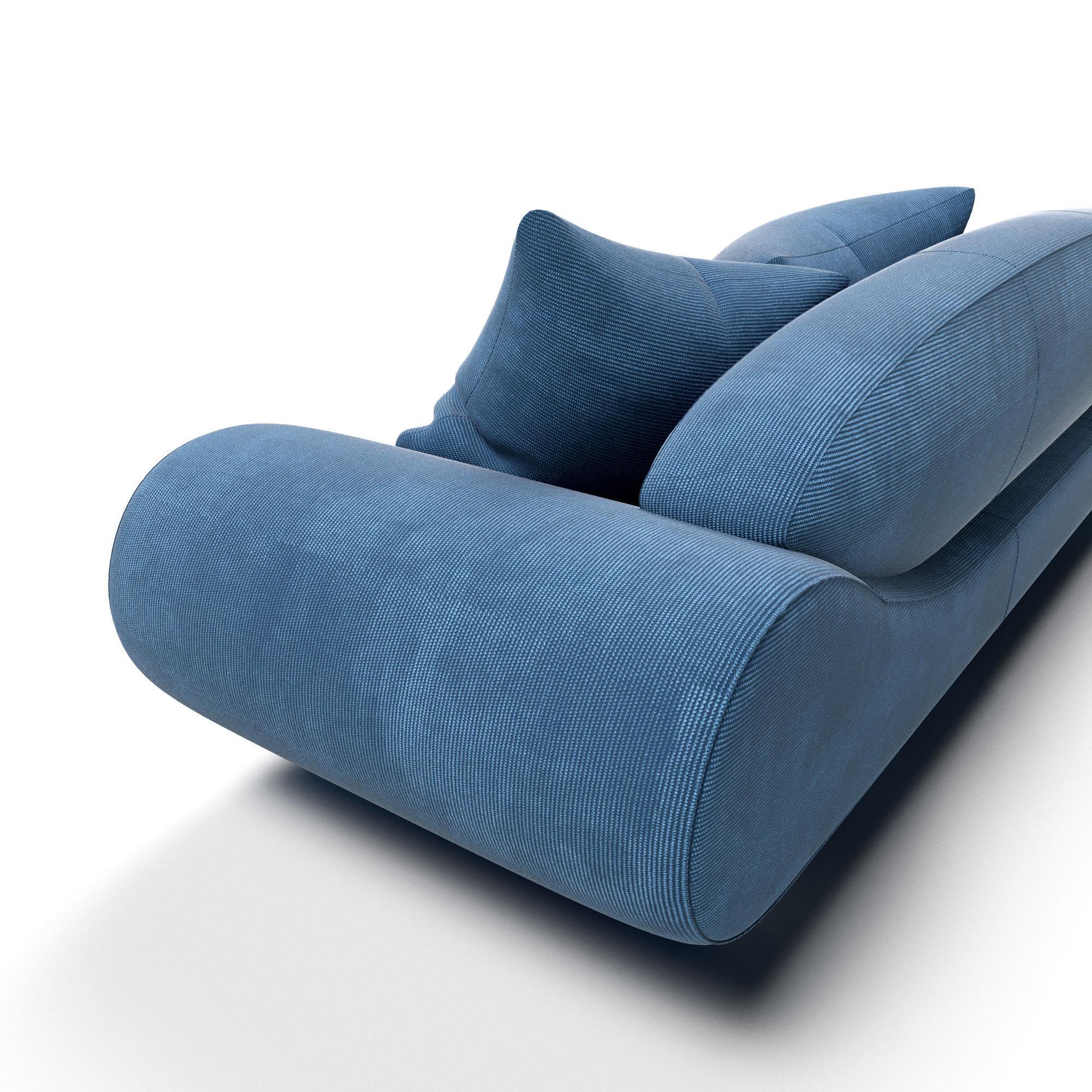 Superbe ... Harmony Sofa 3d Model Max Obj Mtl Fbx 3 ...
