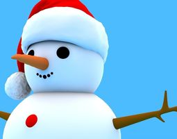 3D model snowman Snowman