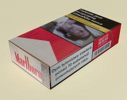 Marlboro cigarettes box 3D model