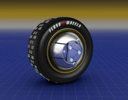Flash Wheels Concept Tyre Illuminating Rim 3D model