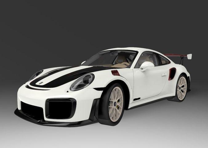 Car 3d 2018 Porsche 911 Gt2 Rs Cgtrader