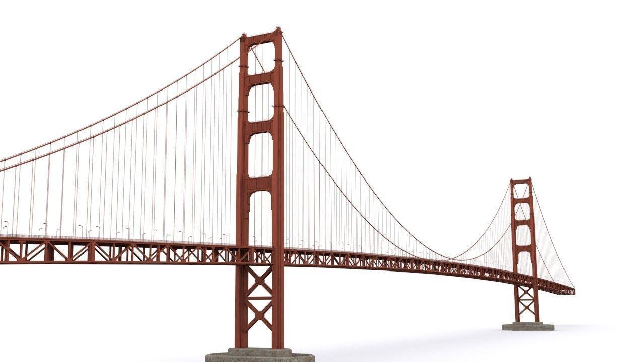 golden gate bridge 3d model  cgtrader