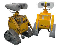 Robot Wall-e - old and new version 3D model