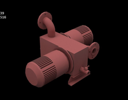 machinary Industrial Parts and Motors Collection 3D model