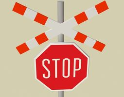 low-poly Stop sign model 3D low poly