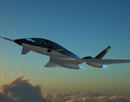 supersonic jet concept 3D model