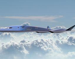 Aqsst MK2 Supersonic business jet 3D