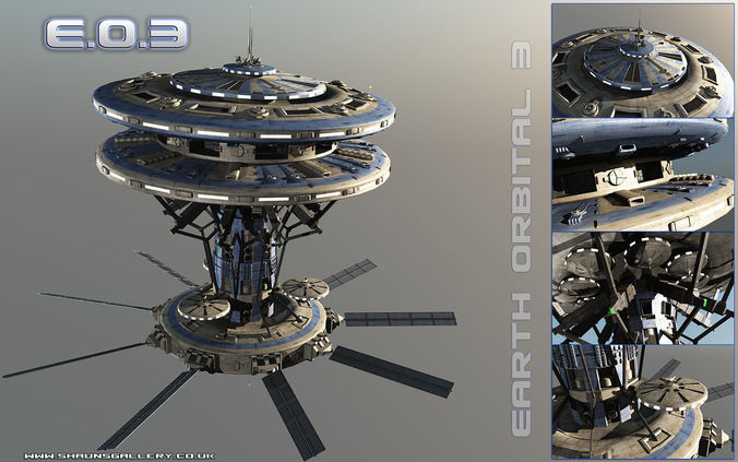 earth orbital 3 space station 3d model max obj mtl 3ds fbx vue pz3 pp2 1