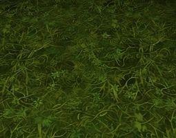 3D ground grass tile 28