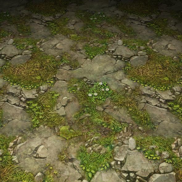 ground stone grass tile 22