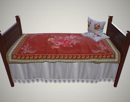 Old children bed 3D asset