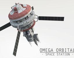Omega Oribital - Space Station 3D asset