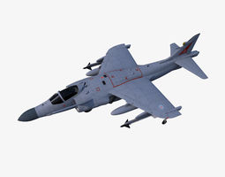 3D asset low-poly Sea Harrier FA2