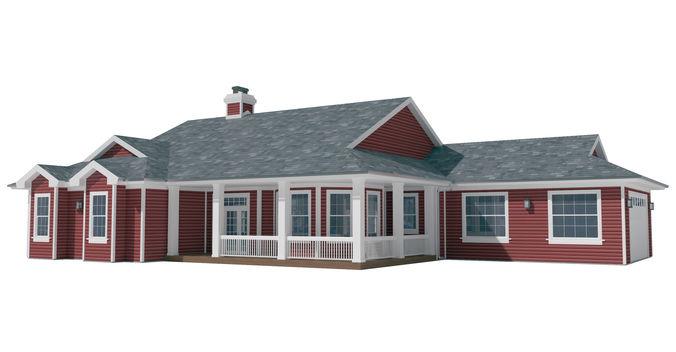 house-019 3d model max obj mtl 3ds fbx dwg 1