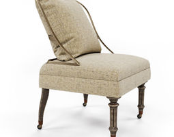 chair burleson 3d model