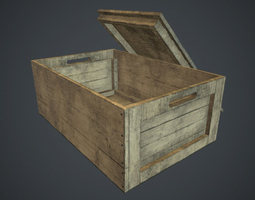 Wooden Box PBR Game Ready 3D model