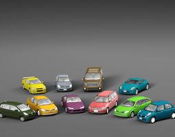 Vehicle Packs cars Nissan 3D asset