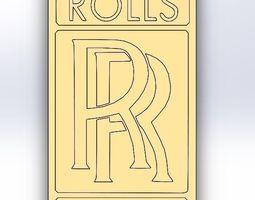 Keychain Rolls Royce 3D print model