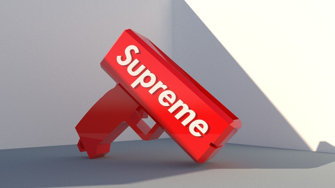 Sell Car For Cash >> 3D model Supreme money gun cash cannon | CGTrader