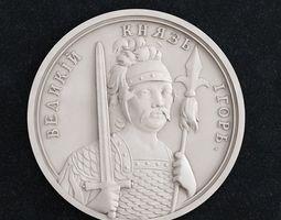 3D printable model Coin Velikii Kniyaz Igor