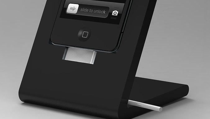 Iphone Dock 3d Model Stl Dae Skp