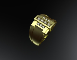 jewelry 3D printable model Mens ring