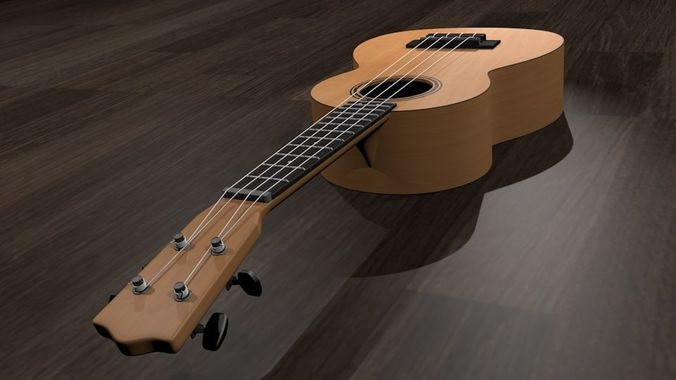 ukulele 3d model obj 3ds fbx blend dae mtl 1