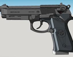 3D print model M9 Beretta 92f