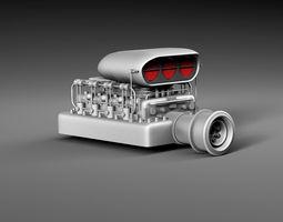 3D asset realtime Motor blower