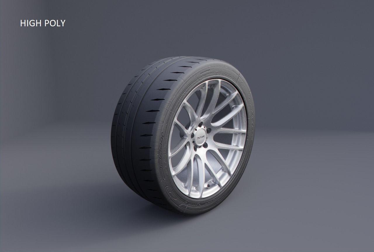 XIX XF-43 car wheel tyre and rim