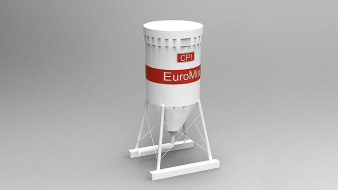 euromix silo 3d model skp 1