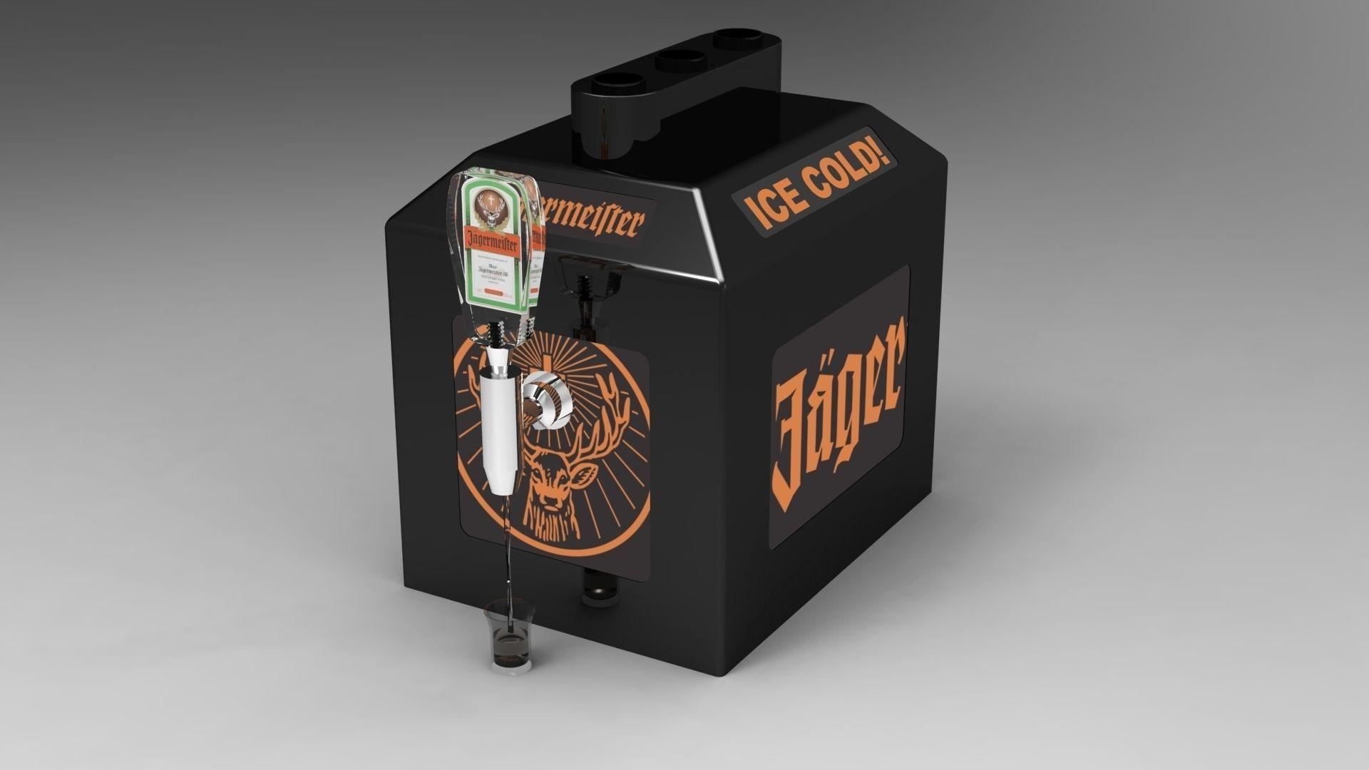 Jagermeister Shot Machine 3d Model Dwg Skp Cgtrader Com